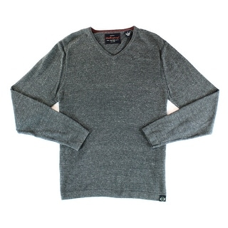 Weatherproof NEW Gray Mens Size Medium M Solid Knit V-Neck Sweater