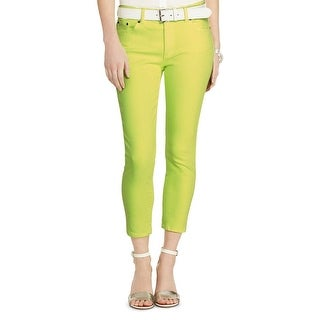 Lauren Ralph Lauren Womens Cropped Jeans Colored Skinny