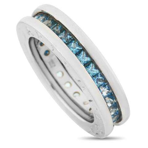 Bvlgari B.Zero1 White Gold Topaz Ring Size 4.5