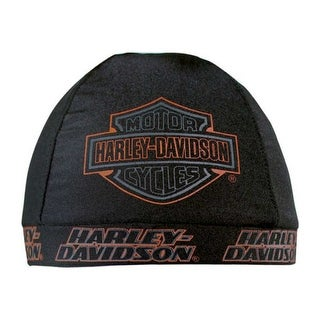 Harley-Davidson Strong H-D Skull Cap Black w/ Bar & Shield Logo SK98630