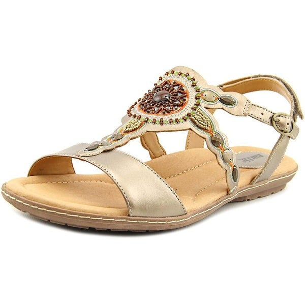 Earth Sunbeam Women  Open-Toe Leather  Slingback Sandal