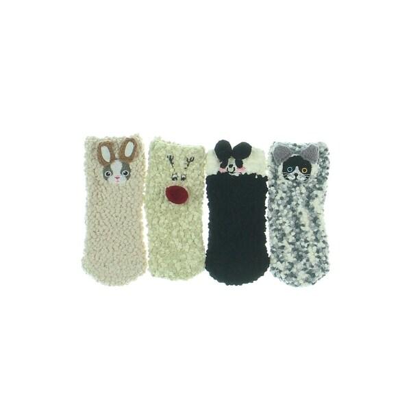 Lovful Girls Quarter Socks Textured Animal - 1-3 years