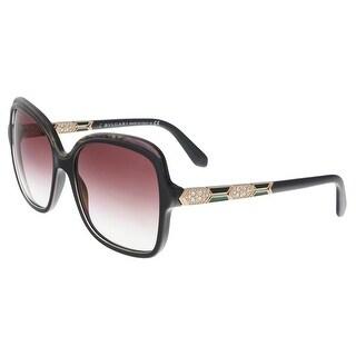 Bulgari BV8181B 54188H Anthracite/Fluo Pink Square Sunglasses - Grey - 56-17-140