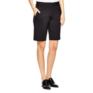 DKNY Womens Dress Shorts Wool Solid