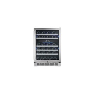 Avallon AWC241DZRH 24 Inch Wide 46 Bottle Capacity Dual Zone Wine Cooler with Right Swing Door - STAINLESS STEEL - N/A