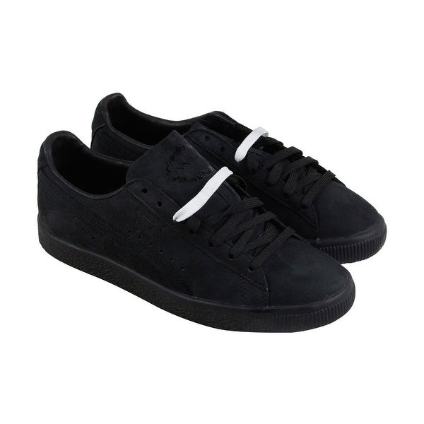 e4fec3f6404a Shop Puma Clyde Fleur De Lis Ennoir Mens Black Suede Sneakers Lace Up Shoes  - Free Shipping On Orders Over  45 - Overstock - 21728693