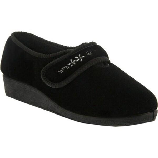 shop flexus spring step womens apala slipper black fabric shipping orders