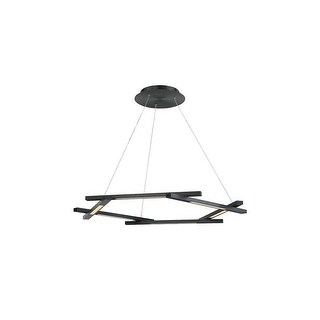 "Modern Forms PD-43738 Metric 6-Light 38"" Wide Integrated LED Chandelier"