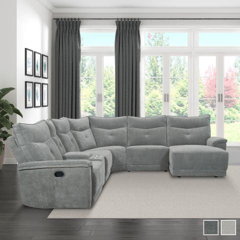 Avenue Modular Reclining Sectional Sofa with Right Chaise