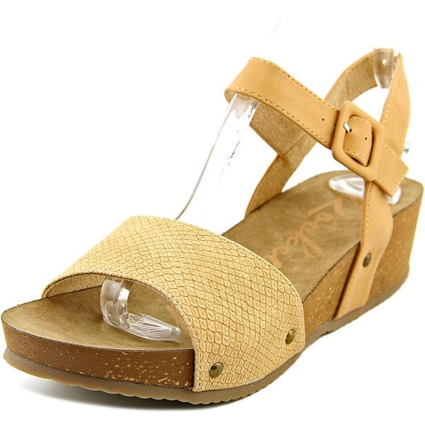 Rocket Dog Gem Women Natural Snake Wood Sandals