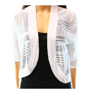 Alfani NEW Bright White Women's Size Medium M Bolero Cardigan Sweater