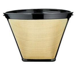 Medelco GF214CB Gold Tone Coffee Filter Permanent, Stainless Steel