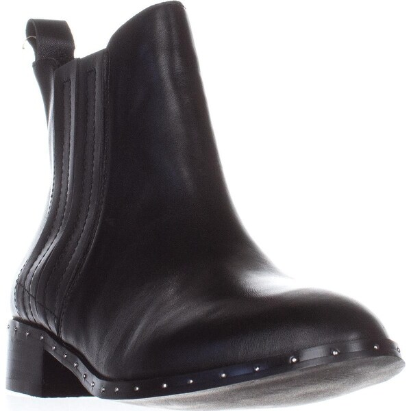Steve Madden Orchid Flat Ankle Boots, Black Leather