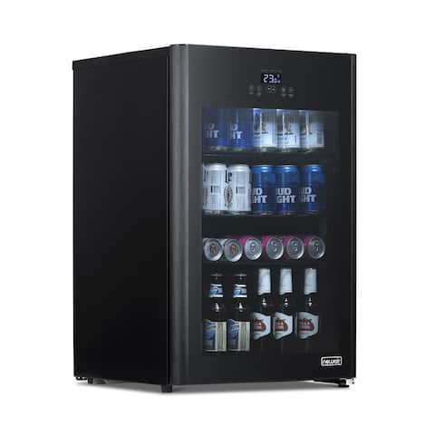 NewAir Froster and Beverage Refrigerator, Freestanding 125 Can Chiller with Party and Turbo Mode, Chills to 23 Degrees, Black