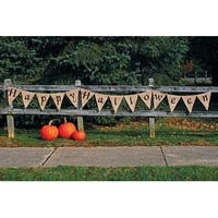 Fun World 9825HH Happy Halloween Banner,12', Cream