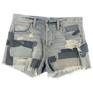 Denim & Supply Ralph Lauren Womens Patchwork Destroyed Cutoff Shorts - 29