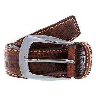 Renato Balestra BERNARDO MARRONE Brown Leather Mens Belt
