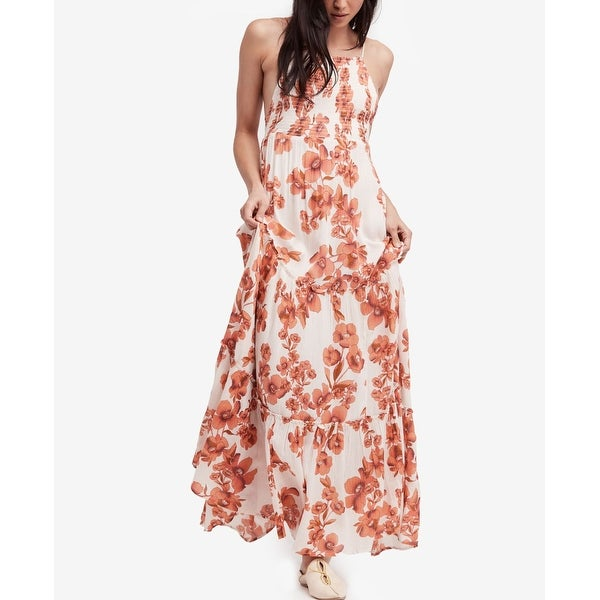 f2e30fa124a Shop Free People Orange Women s Size Medium M Garden Party Maxi Dress - Free  Shipping Today - Overstock - 27063547