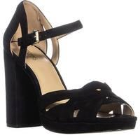 MICHAEL Michael Kors Anneliese Platform Sandals, Black Suede - 9.5 us / 40.5 eu