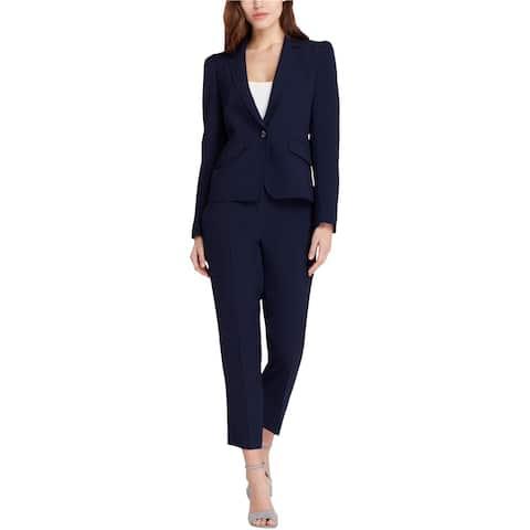 Tahari Womens Notch Collar One Button Blazer Jacket, Blue, 6