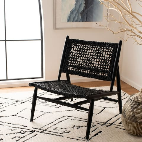 """Safavieh Bandelier Leather Weave Accent Chair - 26"""" W x 31.5"""" L x 30.7"""" H"""