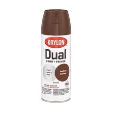 Krylon K08812000 Dual Paint & Primer One Spray Paint, 12 Oz, Leather Brown