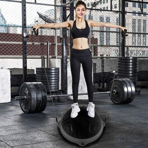 Yoga Ball Balance Hemisphere Fitness for Gym Office Home Black - Medium