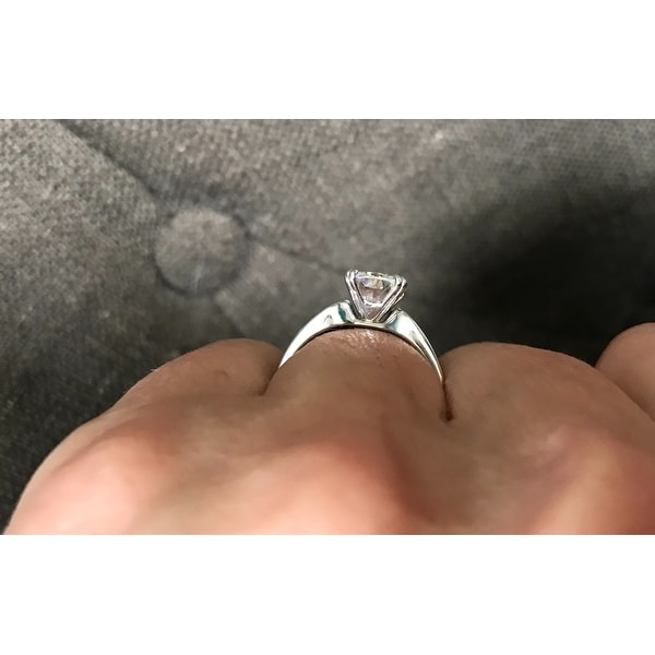 e5e289e7f7575 Shop Annello by Kobelli 14k White Gold 2ct Solitaire Forever One ...