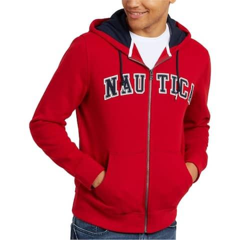 Nautica Mens Logo Hoodie Sweatshirt