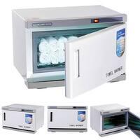 Costway 2 in 1 Hot UV Sterilizer Towel Warmer Cabinet Spa Beauty Salon Equipment 16L