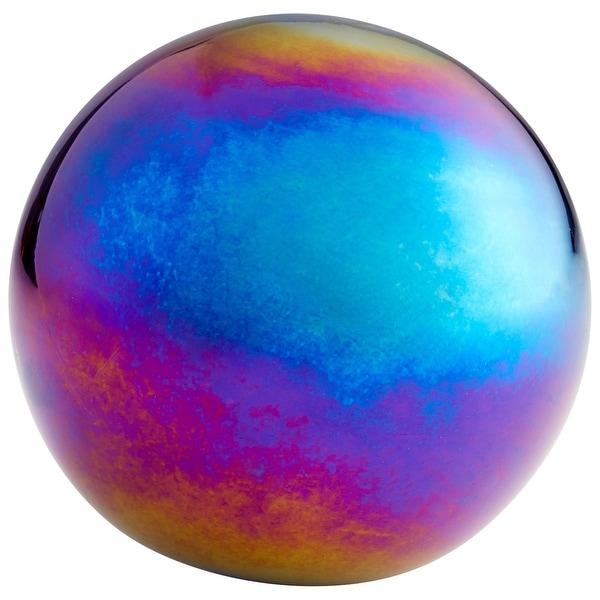 "Cyan Design 09644 Rodin 4"" Diameter Glass Decorative Sphere - Iridescent"