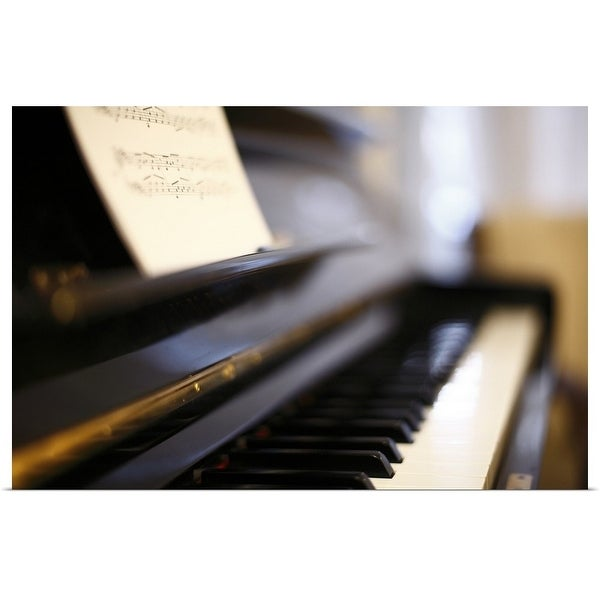 """Piano with blur"" Poster Print"