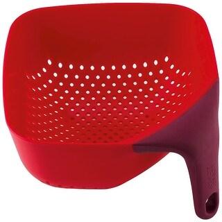 """Joseph Joseph 40060 Square Colander, Medium, 8.5"""" x 8.5"""", Red"""
