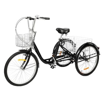 "Adult Tricycle 24"" Wheels, 7 Speed Men's Women's Bike"