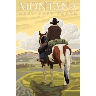 MT - Last Best Place, Cowboy - LP Artwork (Cotton/Polyester Chef's Apron)