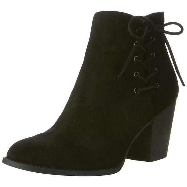 Jessica Simpson Women's Yesha Ankle Bootie, Black, Size 11.0