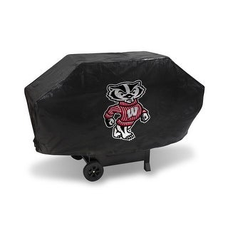 """NCAA Wisconsin Badgers Deluxe Grill Cover, Black, 68 x 21 x 35"""""""