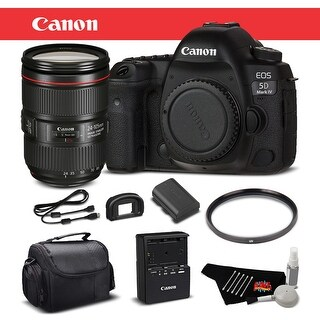 Canon EOS 5D Mark IV DSLR Camera with 24-105mm f/4L II Bundle (Intl Model) (4 options available)