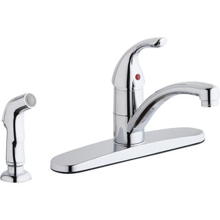 Elkay LK1001  Everyday 1.5/2.2 GPM Deck Mounted Kitchen Faucet with Sidespray and Escutcheon - Chrome