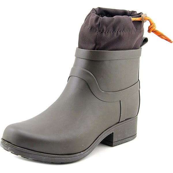 Lucky Brand Rebeka Women Round Toe Synthetic Brown Rain Boot