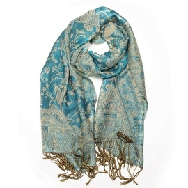 Reversible Paisley Pashmina Shawl Wrap Elegant Colors
