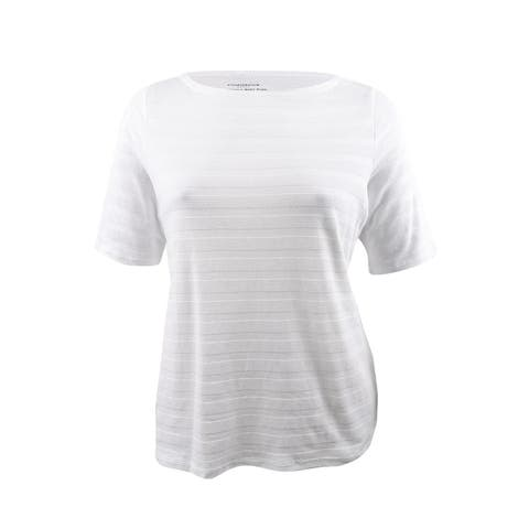 Charter Club Women's Plus Size Cotton Textured Top