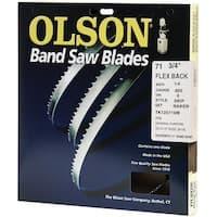 """Olson Saw WB56371DB Hard Edge Flex Backband Saw Blade, 71.75"""" x 1/4"""""""