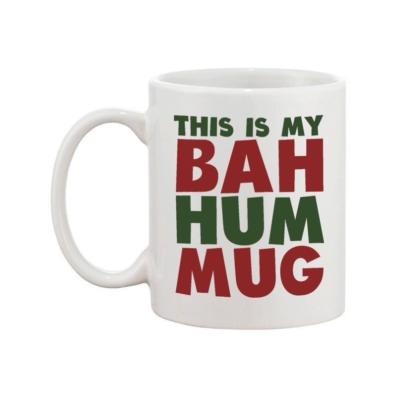 Christmas Mugs.This Is My Bah Hum Mug Cute Christmas Gift Idea Funny Coffee Mugs For Holidays