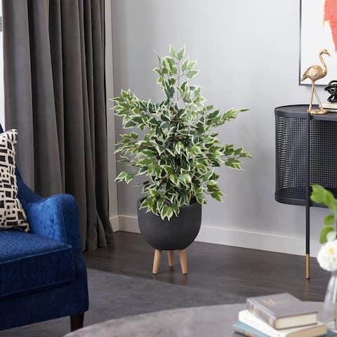 "Ficus Tree Artificial Decorative Foliage 45"" Green - 28X27X45"