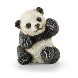 Schleich 14734 Playing Panda Cub Toy for Ages 3 & Up, Plastic, Black & White