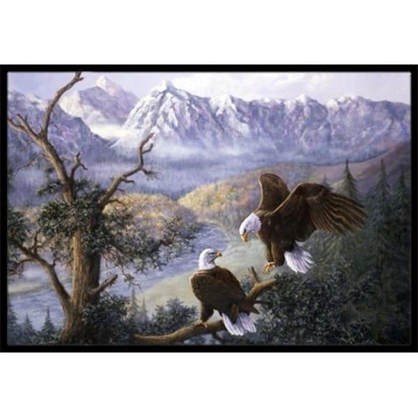 Carolines Treasures BDBA0153MAT Eagles by Daphne Baxter Indoor or Outdoor Mat 18 x 27