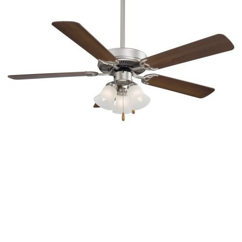 "MinkaAire F647 5 Blade 52"" Contractor Ceiling Fan with Blades and 3 Bulb Integrated Light Kit Included"