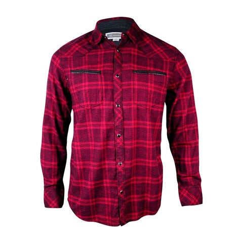 INC International Concepts Men's Welt Pocket Flannel Shirt
