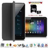 "Indigi® 7"" 3G Factory Unlocked 2-in-1 Phablet Android 4.4 SmartPhone & TabletPC w/ Built-in Smart Cover + 32gb microSD(Black)"